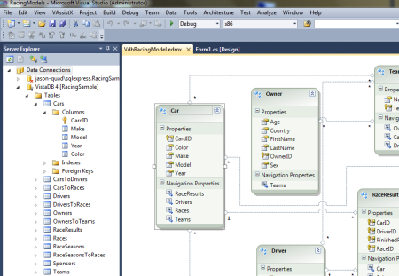 Visual studio integration vistadb visual studio integration features in vistadb ccuart Images